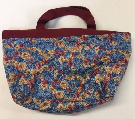 Size Change Project Bag Blue Flowers